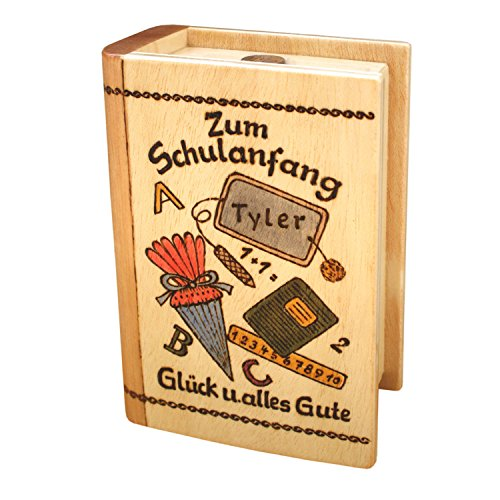 Geschenk zur Einschulung - Spardose mit Namen - Einschulungsgeschenk für Mädchen und Jungen, ein personalisierte Geschenkidee zum Schulanfang