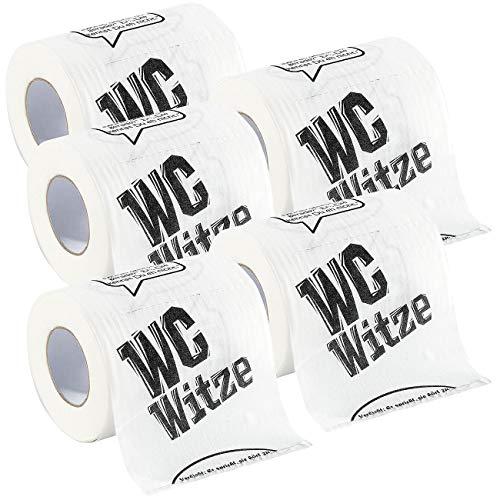 infactory Klopapier lustig: Toilettenpapier Witze, 5 Rollen (Toilettenpapier lustig)