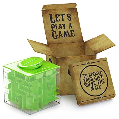 AGREATLIFE Labyrinth Spardose (schwer zu öffnen) - Money Maze Rätselbox - Geldlabyrinth originelles Geldgeschenk - Give Aways für Kinder - Geduldspiele - Die sicherste Spardose der Welt!