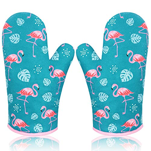AYADA Ofenhandschuh Topfhandschuhe Backhandschuhe Topflappen Handschuh Backofen Handschuhe Oven Gloves Oven Mitts Kochhandschuhe Küchenhandschuhe Backofenhandschuhe Blau Grün