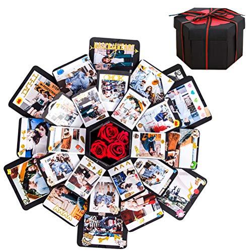 Überraschung Box, DIY Geschenk Fotoalbum Handgemachtes Scrapbook Geschenk für Geburtstag,Valentinstag,Hochzeit,Weihnachtsfest