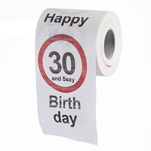 Goods & Gadgets Lustiges Fun Klopapier zum 30. Geburtstag Toilettenpapier Geschenkartikel Geburtstags-Dekoration 30 und Sexy!