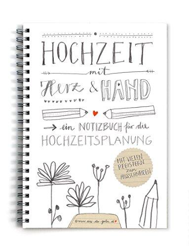 Hochzeitsplaner, Weddingplaner, NOTIZBUCH (KEIN RATGEBER), schönes Kalligrafie Design, mit vielen Registern zum selbst Ausschneiden,grau weiß beige, A5