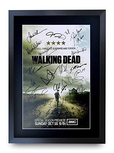 HWC Trading The Walking Dead A3 Gerahmte Signiert Gedruckt Autogramme Bild Druck-Fotoanzeige Geschenk Für Tv-Show-Fans