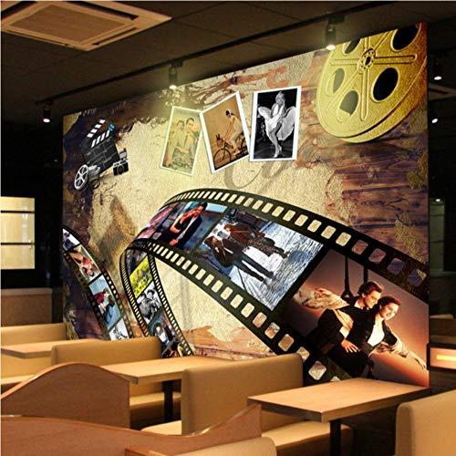 Fototapete Größe Foto Nostalgie europäischen amerikanischen Film Hintergrund Wand Lobby Dekoration Wohnzimmer Kino Wandbild Tapeten, 350 * 256
