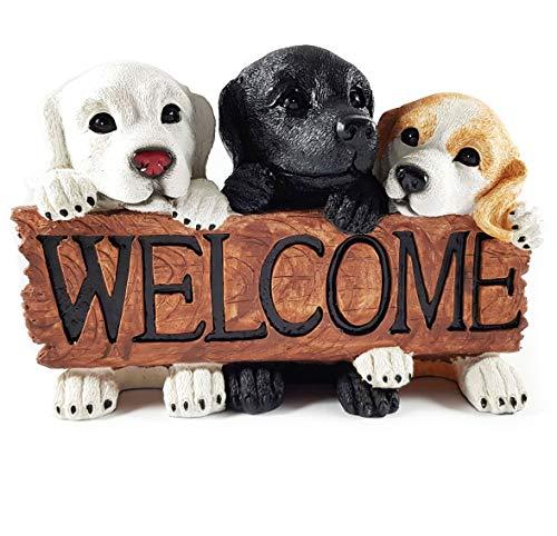 Wichtelstube-Kollektion Gartenhund Dekohund Hund für den Garten Gartenfigur Welpen