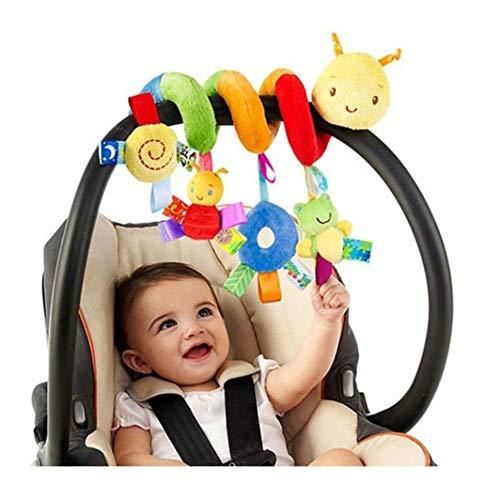 BSTiltion Babyschale Spielzeug, Baby Activity-Spirale Kette Kinderwagen Spielzeug Mädchen Spirale Kinderwagenkette mit Klingelglocke zum Aufhängen an Kinderwagen, Babyschale, Kinderbett oder Bett
