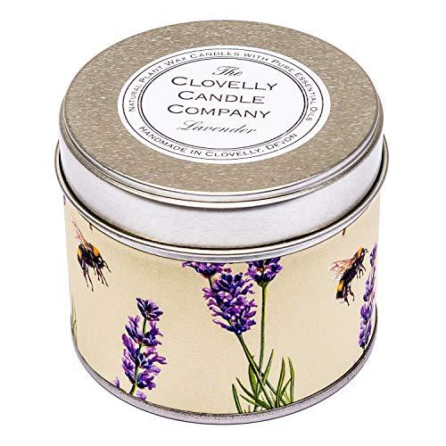 Clovelly Soap Co. Handgemachte natürliche Duftkerze Lavendel Aromatherapie Sojawachs Vegane Dosenkerze