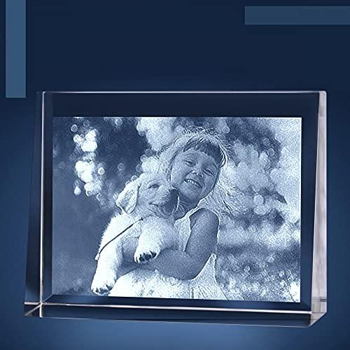 Isonio Glasfoto - Ihr eigenes Foto in Viamant Glas gelasert - Foto im Kristallglas als Fotogeschenk (Größe M Querformat 100 x 75 x 30mm)