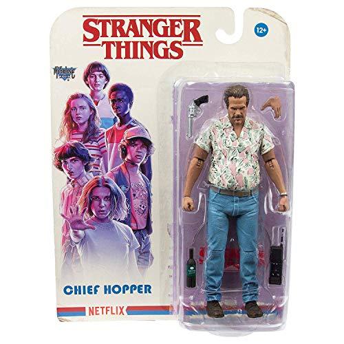 Heo Articulada Stranger Things Figur Chief Hopper, Mehrfarbig (McFarlane MCF10560-5)
