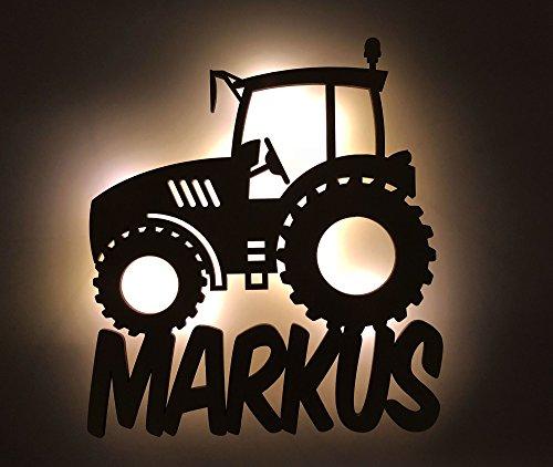 Schlummerlicht/Nachtlicht'Traktor' personalisiert mit Namen - Optional mit Zugschalter und Lackierung
