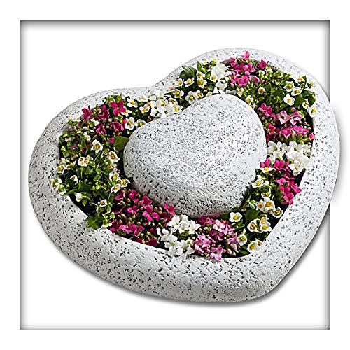 Kieskönig Pflanzschale Pflanzgefäss Herz Garten Blume Grab Grabschmuck Gartendeko