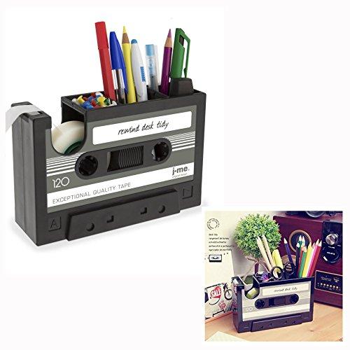 Cisixin Stifthalter Retro Kassetten, Schreibtisch Organizer Stiftehalter Retro Stil Creative Geschenk