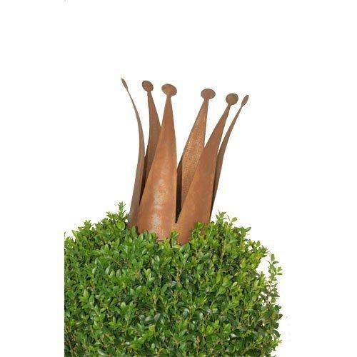Rostikal | Deko Krone aus Metall im Rostlook | Edelrost Gartendeko | 32 cm hoch