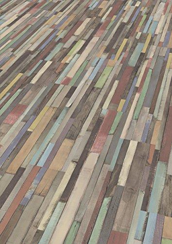 EGGER Home Laminat mehrfarbig bunt Holzoptik - Dimas Wood bunt  EHL008 (7mm, 2,481 m²) Klick Laminatboden | Bodenbelag