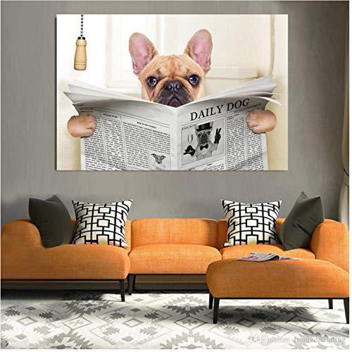 henggfd Niedliche Poster und Drucke Raumdekoration Wandkunstdruck lustige Hundebilder Wohnkultur Größe -60x100cm ohne Rahmen