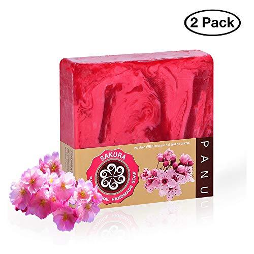 Panu Duschseife – Sakura Naturseife - Körperseife für jeden Hauttyp (2 Stück)