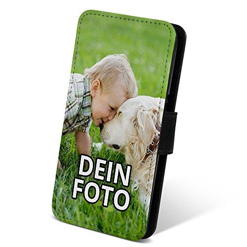PhotoFancy ® – Samsung Galaxy S7 Handyhülle mit eigenem Foto Bedrucken – Smartphone Case als personalisierte Schutzhülle mit bedruckten Seiten (Flipcase)