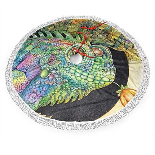 Ye Hua Leguan-Eidechsen-Chamäleon-Weihnachtsbaum-Rock-Verzierung 48inch Durchmesser-Weihnachtsdekoration-neues Jahr-Partei-Versorgungsmaterial 30inches