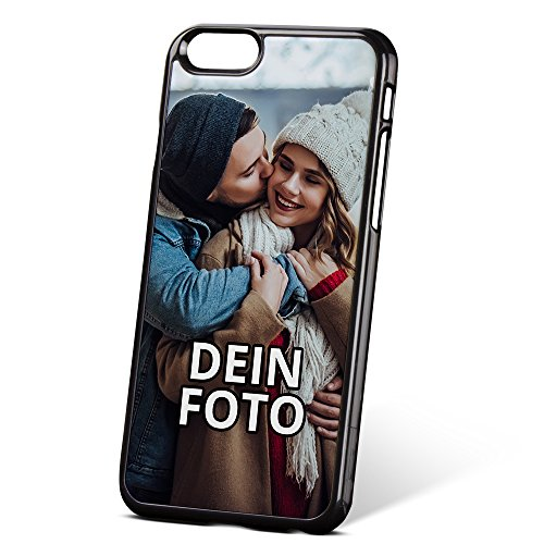 PhotoFancy ® – iPhone® 6/6s Handyhülle mit eigenem Foto Bedrucken – Smartphone Case als personalisierte Schutzhülle (Hardcase schwarz)