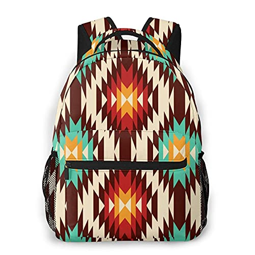 Jiaoqi American Native Pattern Casual Travel Bookbags Schultasche für Frauen Männer Geschenke