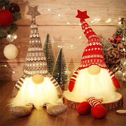 MTaoyac Weihnachten Deko Wichtel 49 cm Hoch, Schwedischen Weihnachtsmann Santa Tomte Gnom, Festliche Verpackung, Skandinavischer Zwerg Geschenke für Kinder Familie Weihnachten Freunde(2 Stücke)