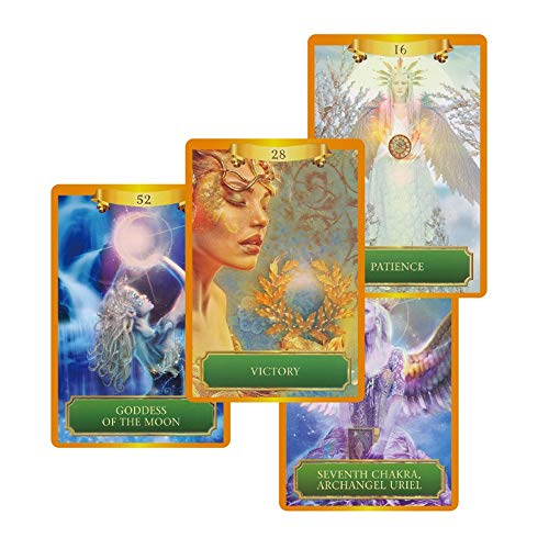 URNOFHW 2020 Energie Oracle-Karten Deck, 53 Karten, Tarot-Karten Guidance Fate Mysterious Brettspiel