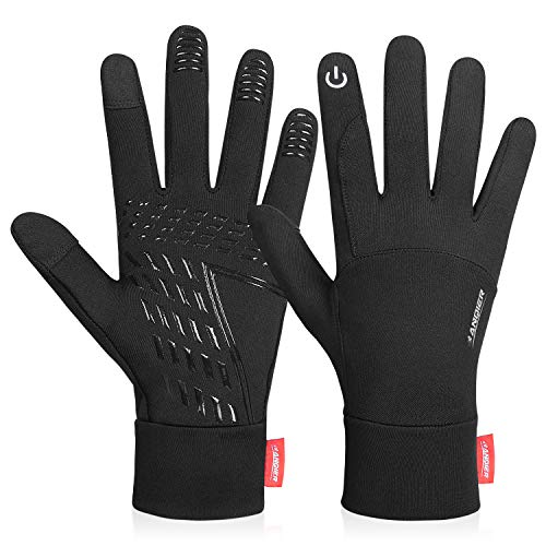 coskefy Touchscreen Handschuhe Sport Elastisch Leicht Atmungsaktiv Outdoor Gloves Damen Herren rutschfest Winddicht Winter Frühling Herbst Motorrad Fahrrad Camping Wandern Bergsteigen(Schwarz-B,XL)