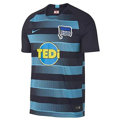 Nike Herren Hertha BSC Breathe Stadium Away T-Shirt, Dark Obsidian/Chlorine Blue, L