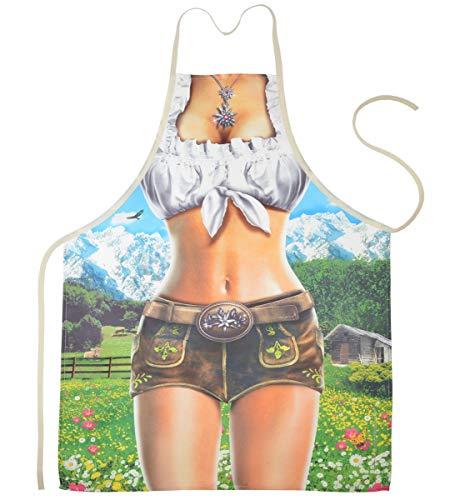 Motiv Schürze - Alpenmodel Sie - Schürze mit Motiv Küchenschürze Latzschürze Grillschürze