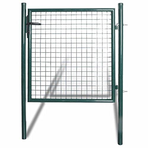 vidaXL Einzeltor 100x150cm Zauntor Gartentor Gartenpforte Gartentür Tür Hoftür
