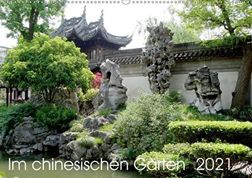 Im chinesischen Garten (Wandkalender 2021 DIN A2 quer)