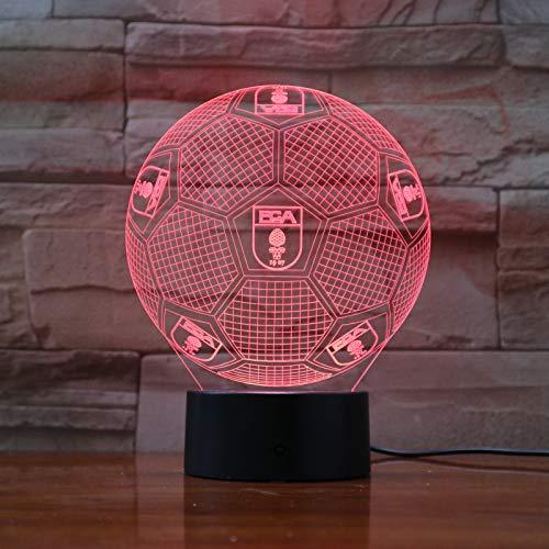 Lixiaoyuzz Nachtlampe Fußballmannschaft Fc Augsburg 3D Illusion Führte Kinder Kindergeschenke Bundesliga Tischlampe Nachttischlampe Dekoratives Licht