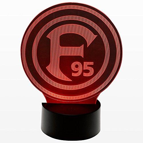 Fortuna Düsseldorf LED Nachtlicht 'Logo', Maße: 14,5x18,4x8,7cm, Gewicht: 167 Gramm