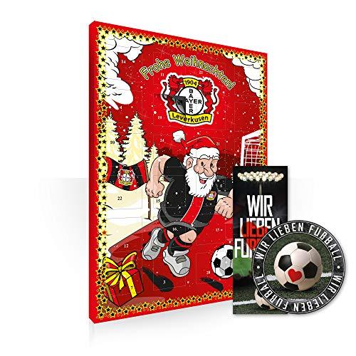 Adventskalender, Weihnachtskalender deines Bundesliga Lieblingsvereins 2019 - Plus gratis Sticker & Lesezeichen Wir Lieben Fußball (Bayer 04 Leverkusen)