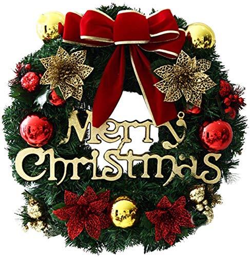 CHEPL Weihnachtskranz Weihnachten Türkranz Weihnachtsdeko Kranz Weihnachtsgirlande Weihnachten Dekoration Weihnachten Türkranz Weihnachtsdeko für Tür und Fenster 30CM