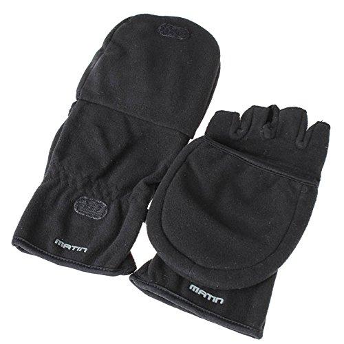 Enjoyyourcamera Foto-Handschuhe Gr. M (EU) schwarz, sehr warm - ungehinderte Kamerabedienung Dank Spezialdesign mit zurückklappbaren Fingerhauben - (Made by Matin)