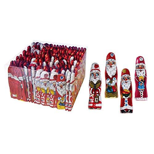 140er SET Weihnachtsmännchen 7,5 cm, lose 5,5 g / Schokolade / Weihnachten / Weihnachtsmänner