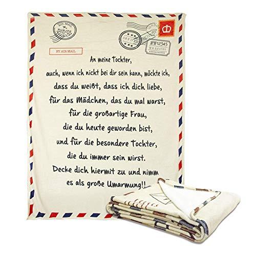 AYYDS Personalisierte Kuscheldecke An Meine Tochter 150 x 200cm Ermutigen und Lieben Superweiche Flanell Decke Geschenke (Tochter)