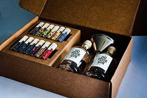 DO YOUR GIN   DIY Gin-Set – für zu Hause oder als Geschenk   Bekannt aus Sat1, Vogue, Spiegel   12 Botanicals im Glas   Craft Gin zum Selber-Machen