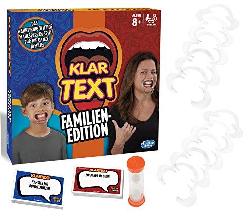 Hasbro Gaming C3145100 - Klartext Familien-Edition Partyspiel (Alter 8+)
