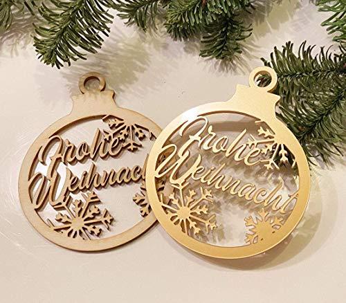 Weihnachtsornament Christbaumkugel Deko Anhänger personalisiert mit Ihrem Namen oder Wunschtext