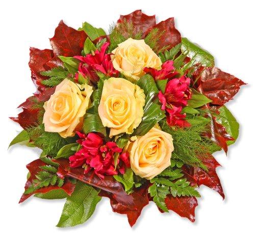 Blumenstrauß Blumenversand 'Cappuccino' +Gratis Grußkarte+Wunschtermin+Frischhaltemittel+Geschenkverpackung