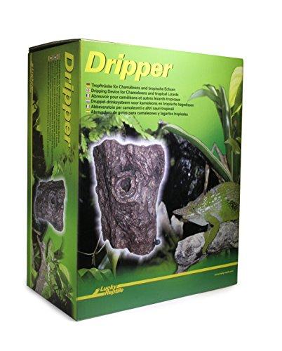 Lucky Reptile DR-1 Dripper, Tropftränke für Chamäleons, in Baumstamm Optik
