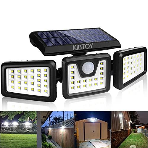 Solar Sicherheitsleuchte mit Bewegungsmelder,KIBTOY Solarlampen für Außen 70 LEDs Solar Wandleuchte 360°Beleuchtungswinkel 2200 mAh solarleuchten 900 lumen IP65 für Haustür, Schuppen, Wand, Weg, Hof