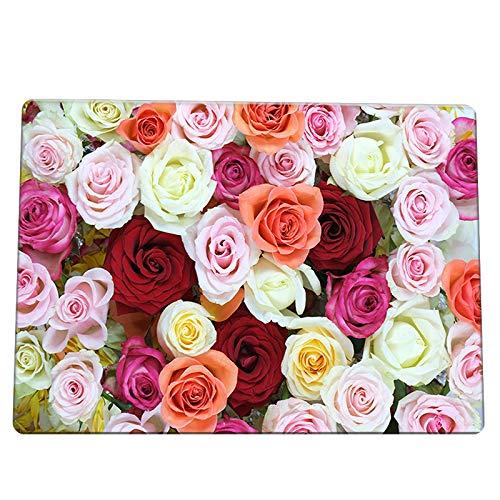 HJFGIRL 3D Teppich Europäischer Stil Große Bodenmatte Kunst Blumenteppich Anti-Rutsch-Krabbelmatte Für Wohnzimmer Schlafzimmer Mode Küchenteppiche Teppiche,A,120x180cm(47x71inch)