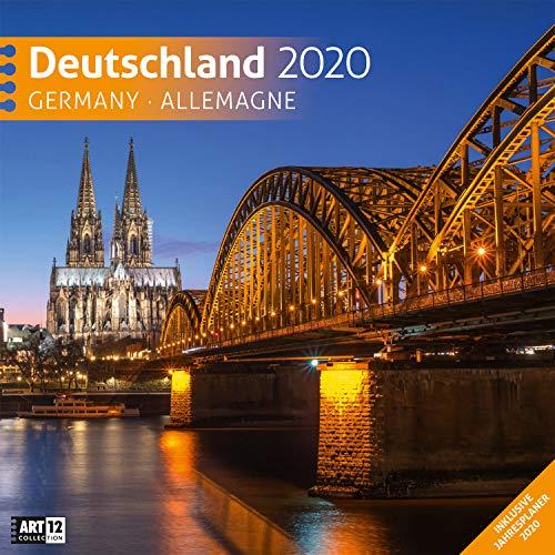 Deutschland 2020, Wandkalender / Broschürenkalender im Hochformat (aufgeklappt 30x60 cm) - Geschenk-Kalender mit Monatskalendarium zum Eintragen