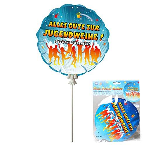Deko Geschenk Ballon 'Jugendweihe', 3-tlg., selbstaufblasend