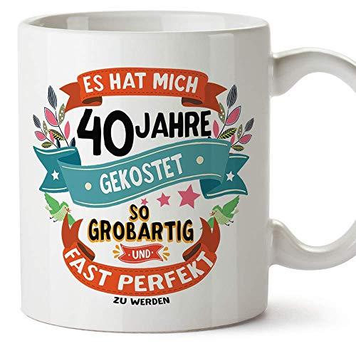 MUGFFINS Geburtstagstasse 40 Jahre Alt - Becher/Mug als Geschenk zum Geburtstag/Jubiläum - Keramik 350 mL
