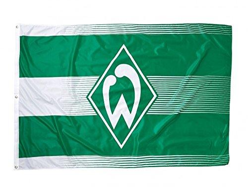 Werder Bremen Fahne Fanartikel als Geschenkidee. Hissfahne klein - 180 x 120 cm - Flagge Fahne